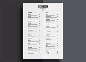 info graphic resume templates one page restaurant menu template
