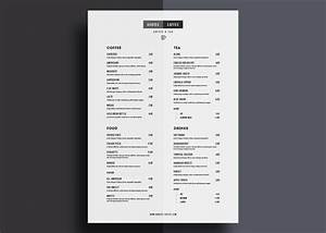 one page restaurant menu template With menu template for pages