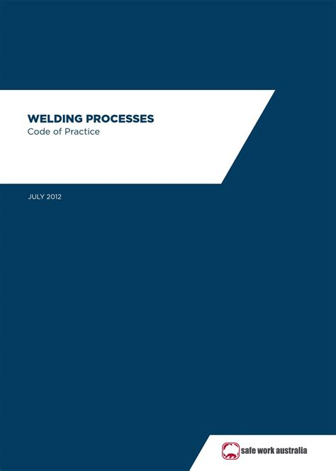welding safety welding processes code  practice