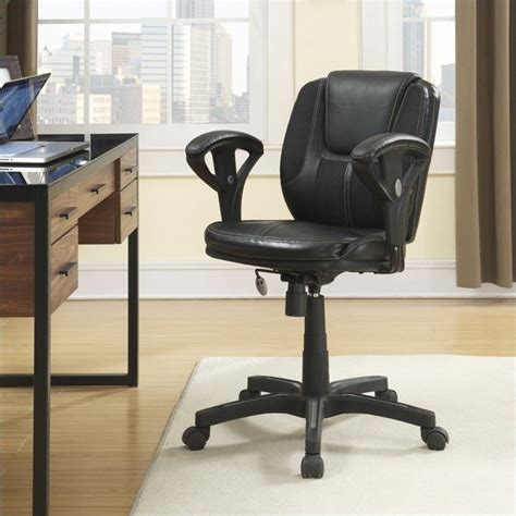Serta Executive Chair Black Mesh by Serta Task Office Chair In Puresoft Black Faux Leather