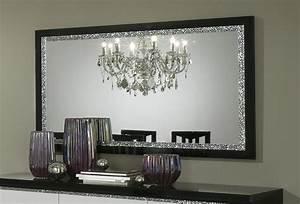 miroir de salle a manger design 140 cm laque noir isabella With miroir salle a manger