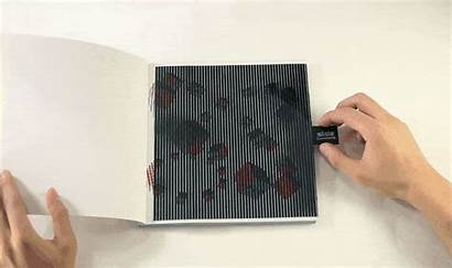 Pop Animation Interactive Moire Object Paper Gifs