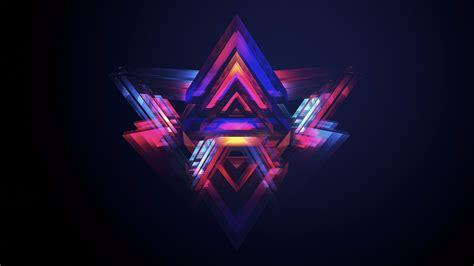 Colorful Pyramid Abstract 4k Wallpaper  Free 4k Wallpaper