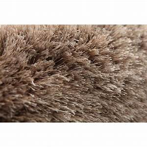 miliboo tapis shaggy rond taupe 150 cm ugo achat With tapis shaggy taupe