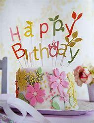 Pretty Happy Birthday Flower Cake