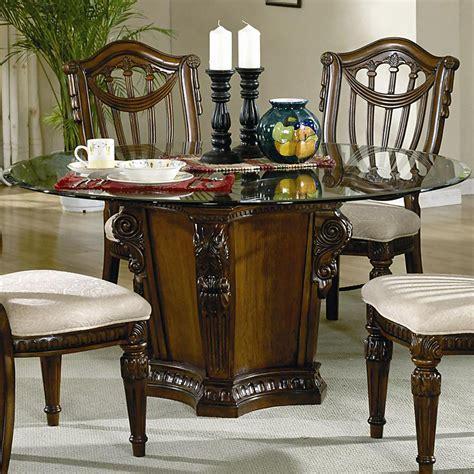glass top dining tables  wood base decor ideasdecor