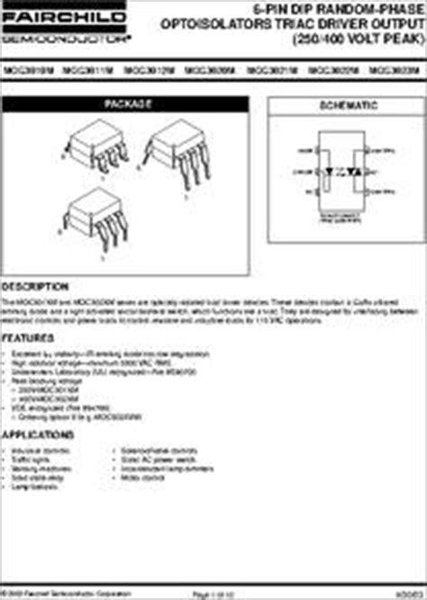 MOC3021-M datasheet - 6-Pin 400V Random Phase Triac Driver ...