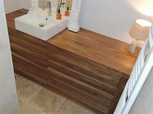 Meuble Salle De Bain Noyer : creations de meubles photos ~ Melissatoandfro.com Idées de Décoration