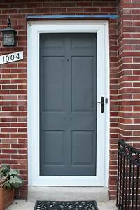 Grey Front Door Colors White Frame Country Home with Brick ...