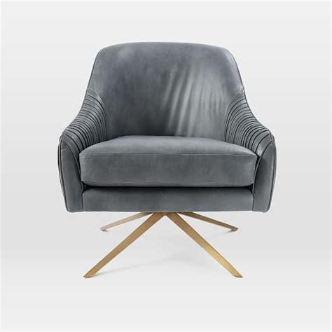 roar rabbit swivel chair leather west elm
