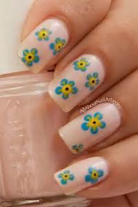 Simple easy flower nail art designs ideas