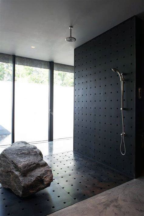 shower bathroom modern designs tile masculine custom cool metal nature rock showers bath upgrade creative inside homes stone open bathrooms