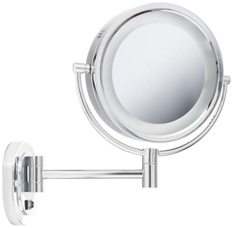 lighted makeup mirror amazon amazon com jerdon hl165cd 8 inch lighted wall mount