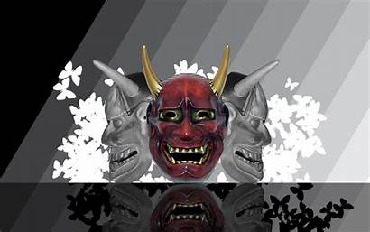 Oni Mask Demon Samurai Wallpapers Deviantart Japanese