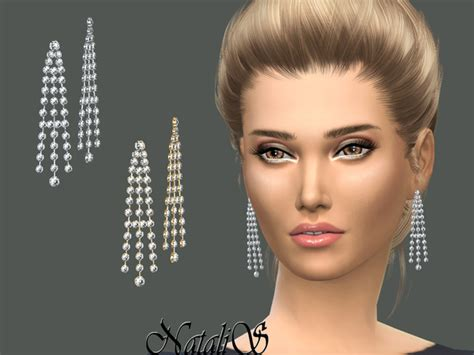sparkling chandelier earrings by natalis at tsr 187 sims 4 updates