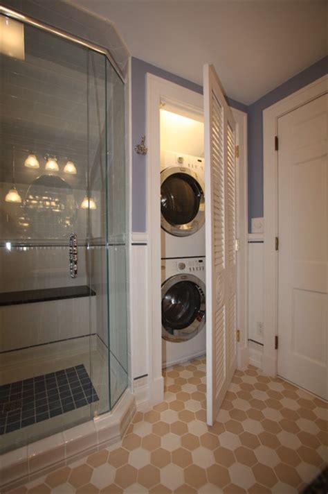 washer dryer traditional bathroom cleveland