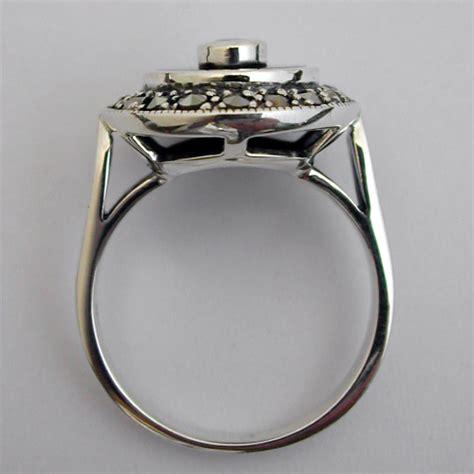 bagues deco bague argent onyx opale marcassite 196 bijou de style d 233 co bijoux