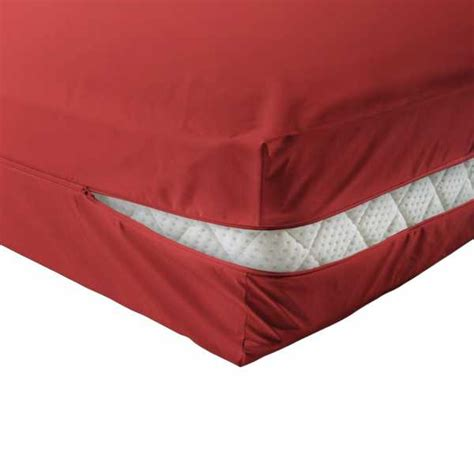 unversteppter matratzenbezug rot matratzenschutznet