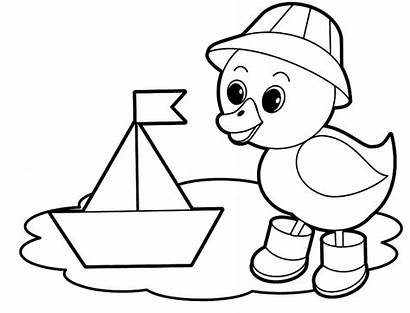 Coloring Easy Pages Duck