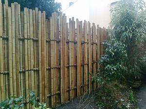 Barriere Pour Jardin : palissade en bambou teppo barri re de tubes pour jardin japonais asiatique jardin ~ Preciouscoupons.com Idées de Décoration