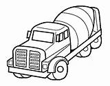 Coloring Truck Mixer Pages Concrete Cement Coloringcrew Trucks Fall sketch template
