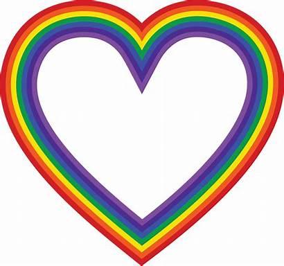 Rainbow Clipart Heart Hearts Crayon Cross Clip
