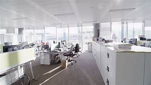 Stock video of interior view of empty office work ...