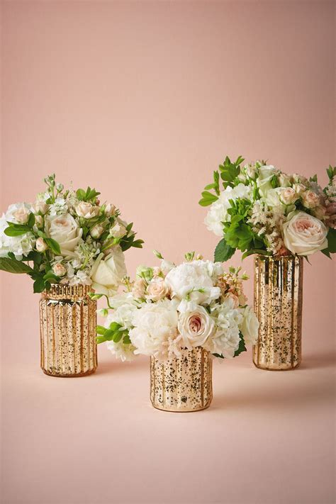 Gold Vases by Fluted Mercury Vases Your Bhldn Wishes Wedding Vases
