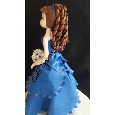 quinceanera cake topper royal blue girl cake topper