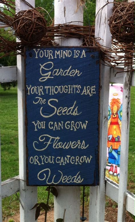Primitive Garden Sign Hand Painted Signs