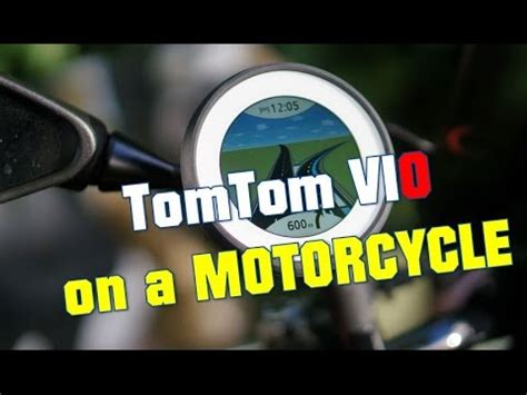 tom tom vio tomtom vio navigation on a motorcycle