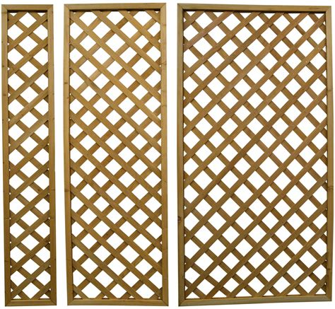Outdoor Wooden Trellis by Woodside Wooden Outdoor 180cm Lattice Pattern Garden