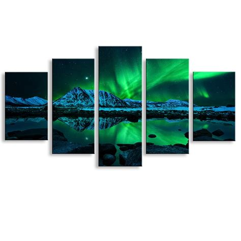 pieces high definition print northern lights canvas oil