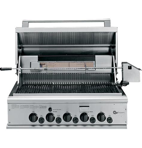 zggncss ge monogram  outdoor cooking center   grill burners rotisserie smoker
