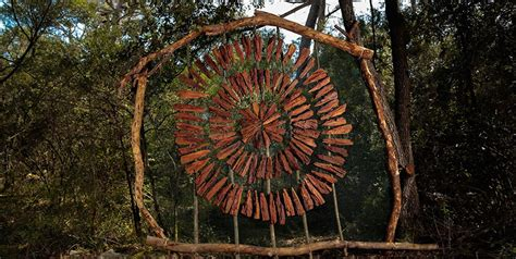 artist spends  year   woods making magical
