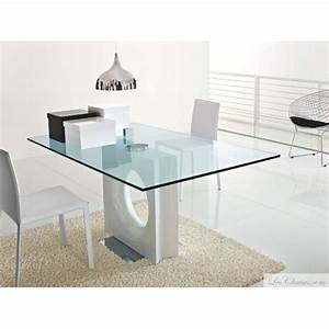 Table Rectangulaire Pied Central : table verre design rectangualire maxime et tables design en verre transparente tables toulouse ~ Melissatoandfro.com Idées de Décoration