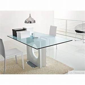 Table En Verre Rectangulaire : table verre design rectangualire maxime et tables design en verre transparente tables toulouse ~ Teatrodelosmanantiales.com Idées de Décoration