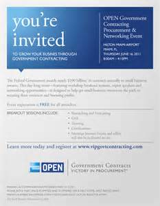 Business Networking Event Invitation