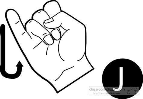 Sign-language-letter-j-outline