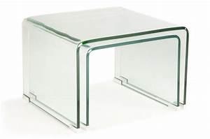 Table Basse Gigogne Verre : set 2 tables basses gigogne verre transparent otta table ~ Teatrodelosmanantiales.com Idées de Décoration