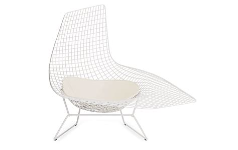 chaise bertoia blanche bertoia asymmetric chaise design within reach