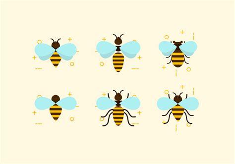 flat six bees vectors download free vectors clipart