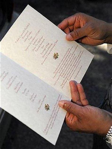wedding program ideas lovetoknow