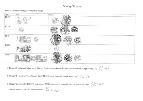 newest money worksheets giving change goodsnyc