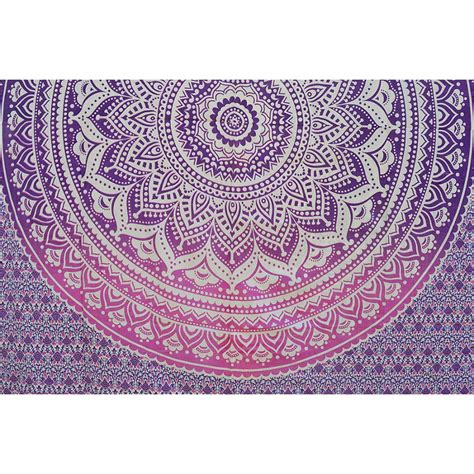 cotton curtains mandala ombre indian hippy wall hanging tapestry