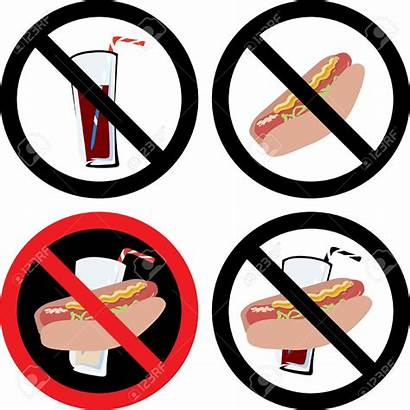 Drink Vector Signs Sign Prohibit Clipart Eating