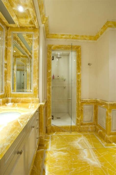 yellow marble bathroom radiant yellows pinterest