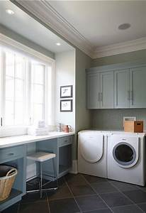 gray green paint colors contemporary laundry room With best brand of paint for kitchen cabinets with laundry room wall art ideas