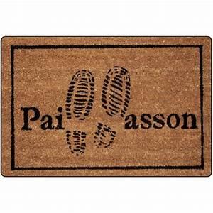 paillasson imprime pas tapis d39entree eminza With tapis pour entrée de maison