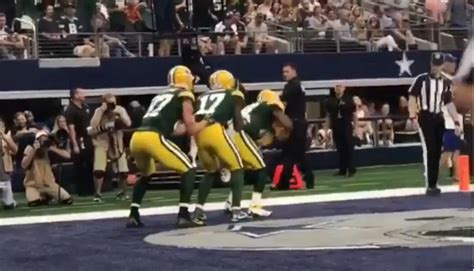 packers   hilarious bobsled celebration